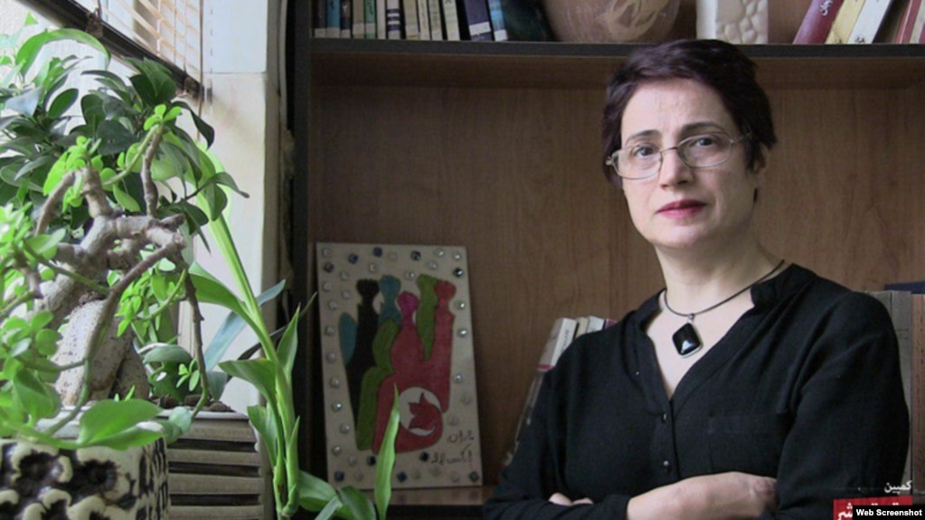 Iranian rights lawyer Nasrin Sotoudeh, who has been persecuted by the Islamic Republic for the past almost for a decade.