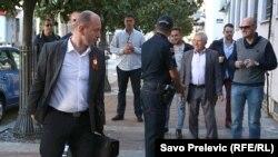 Lider Demokratskog fronta Milan Knežević dolazi na sud u Podgorici.