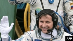 Space tourist Charles Simonyi before boarding the spacecraft.