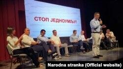 Лидерите на партиите од опозицискиот блок Сојуз за Србија.