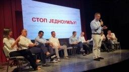 Lideri opozicione koalicije Savez za Srbiju, Šabac