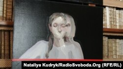 Частина роботи Евіти Андухар «Останній погляд» з виставки «Поза межами пам'яті», Рим, 23 листопада 2018 року