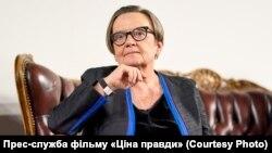 Аґнєшка Холланд, польська режисерка на презентації фільму «Ціна правди»