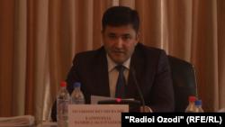 Первый заместитель министра финансов Таджикистана Джамшед Каримзода.
