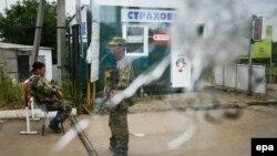 Ҷудоиталабон дар як посгоҳ дар марзи Украина бо Русия