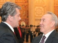 Yushchenko and Nazarbaev in Astana