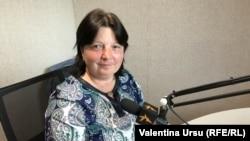 Maria Manoli în studioul Europei Libere
