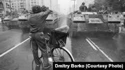 Танки в центрі Москви. 19 серпня 1991 року