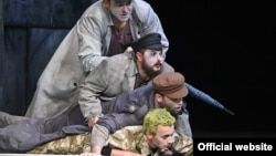 A production of Ubu Roi, a play by Alfred Jary, at Bucharest's National Theater Festival in 2015