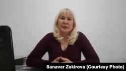Kazakh rights activist Sanavar Zakirova (file photo)