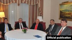 Armenia -- Foreign Minister Eduard Nalbandian meets with the leadership of the Armenian Assembly of America in New York.