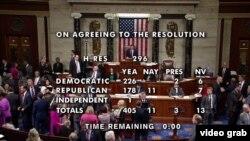 Голосование в Палате представителей.