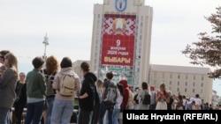Очередь на подачу жалобы в Центизбирком, Минск 15 июля 2020 года