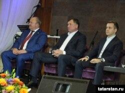 Равил Әхмәтшин (с), Марат Хөснуллин һәм Николай Никифоров