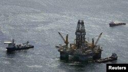 Нефтяная платформа в Мексиканском заливе