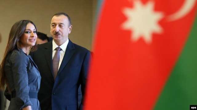 President Ilham Aliyev and one of his daughters, Leyla (corrected)