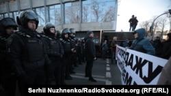 Сутички під Радою проти продажу землі, Київ, 17 грудня 2019 року