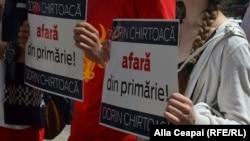 Protest împotriva lui Dorin Chirtoacă, Chișinău, 9 iunie 2016