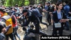 Azerbaijan -- protest after NIDA's verdict, 6 May 2014.