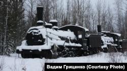 "На разъезде Долгом на Ямале. Паровоз времен ""великой стройки"""