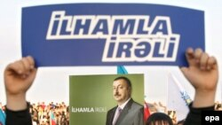 Voters rally in support of incumbent President Aliyev