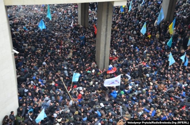 Митинг 26 февраля 2014 года, парламент АРК