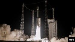 Запуск ракети-носія Vega з космодрому Куру у Французькій Гвіані