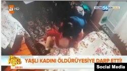 Скриншот с видеозаписи инцидента, распространенного в социальных сетях.