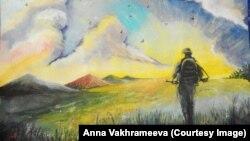 Робота Анни Вахрамеєвої на виставці до Дня Донецька, 2017 рік