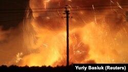 В Винницкой области взрываются артиллерийские склады, Калиновка, 27 сентября 2017 года