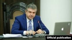 Премьер-министр Армении Карен Карапетян, Ереван, 14 декабря 2017 г.