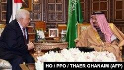 یکی از دیدارهای پیشین ملک سلمان و محمود عباس در ریاض در اول دی ماه سال گذشته.