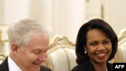 Washingtonnan kilgän par - Rice (u) häm Gates