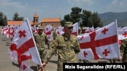 Церемония памяти погибших в войне 2008 года в Грузии, 8 августа 2012