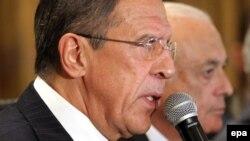 Вазири умури хориҷии Русия (нафари аввал аз тарафи чап)