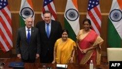 Takimi i zyrtarëve amerikanë me ministret indiane.