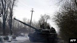 Ukrajinski tenk u selu Orlovka