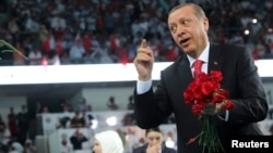 "Turkish President Recep Tayyip Erdogan praised an ""operation which was preplanned, whose every detail was calculated, which lasted through the night in total secrecy and ended successfully this morning."""