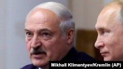 Аляксандар Лукашэнка на сустрэчы з Уладзімірам Пуціным у Санкт-Пецярбургу, 18 ліпеня 2019 году