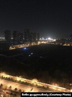 Вид на Ухань из окна квартиры Нини Давлианидзе