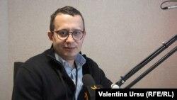 Vadim Pistrinciuc în studioul Europei Libere la Chișinău