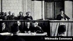 Azərbaycan Parlamentinin açılışı-1918