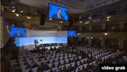 Президент України Петро Порошенко під час Мюнхенської конференції з безпеки, 17 лютого 2018 року
