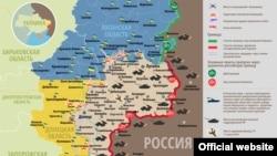 Ситуация в зоне боевых действий в Донбассе