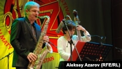 Участники джазового фестиваля в Алматы.