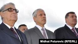 Рајко Кузмановиќ, претседател на РС, Борис Тадиќ, претседател на Србија и Мирослав Додик, премиер на РС на Пале