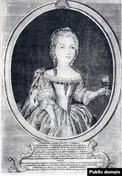 Тэафілія Канстанцыя Мараўская (1738–1807). Медзярыт Гірша Ляйбовіча, 1758, Нясьвіж