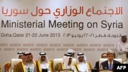 """Встреча """"Группы друзей Сирии"""" в Дохе 22 июня, 2013"""