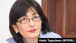 Бахытжан Торегожина, председатель организации «Ар.Рух.Хақ». Алматы, 6 апреля 2011 года.