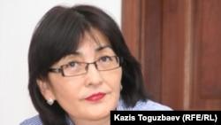 Бахытжан Торегожина, гражданский активист. Алматы, 6 апреля 2011 года.